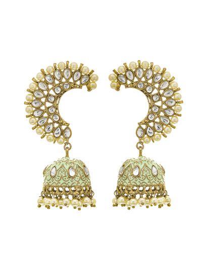 Light Green Earring Cuff Earrings