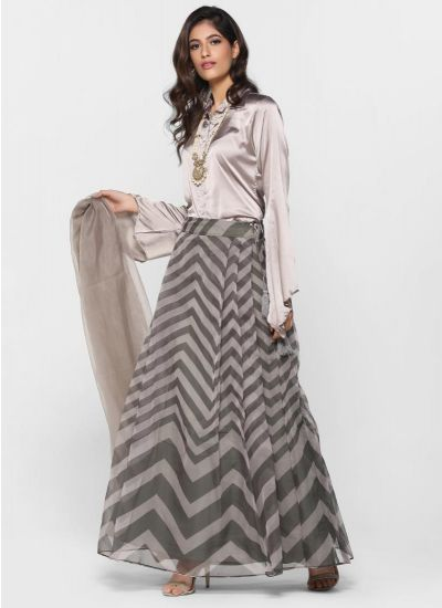 Refined Chevron Lehenga Set