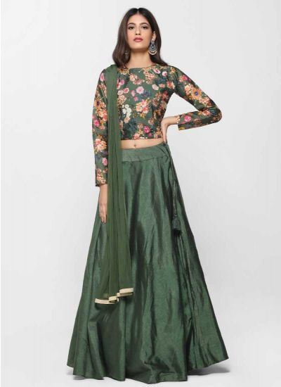Digital Green Lehenga Set