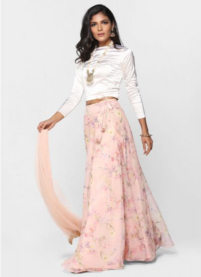 Flow Foliage Skirt Set