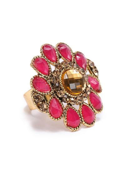 Maroon Stone Finger Ring
