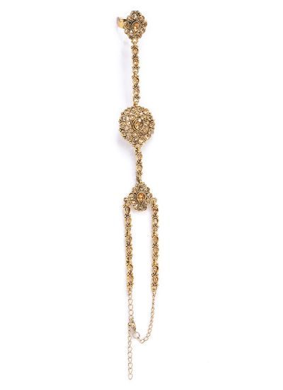 Gold Delicate Stonework Hand Panja