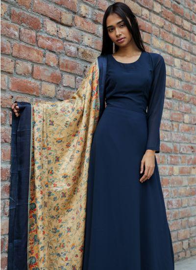 Midnight Kashmiri Dress