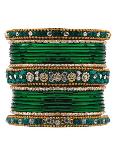 Ornate Studded Bangle Set