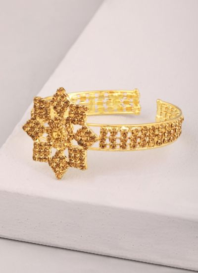 Clip-on Diamonte Gold Bracelet