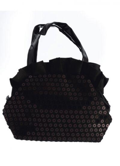 Pink Frilled Sequin Handbag