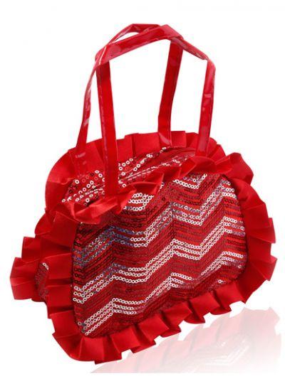Red Sequin Handbag