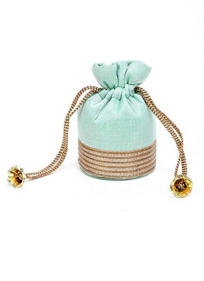 Small Mint Sequins Potli