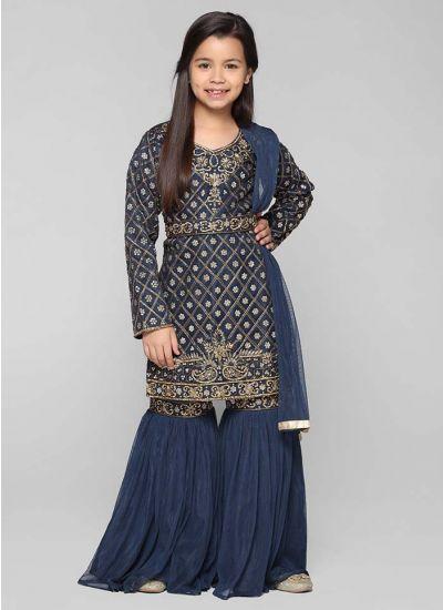 Embellished Gharara Suit