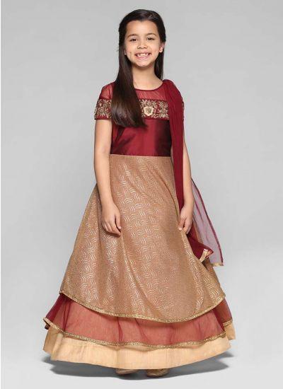 Off-shoulder Layered Dress