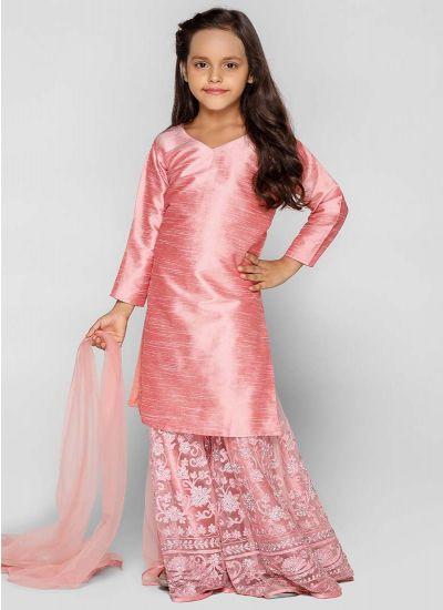 Rose Sharara Resham Dress