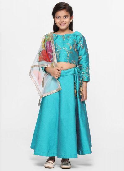 Rama Silk Lehenga Set