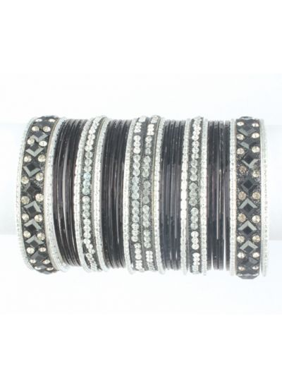 Diamonte Encrusted Bangle Set