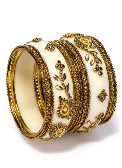 Ivory Plastic Bangle Set