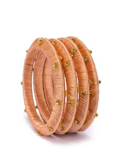 Peach Threaded Bangles