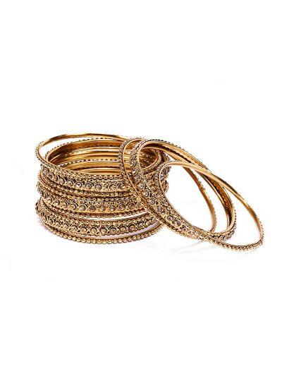 Elegant Gold Bangle Set