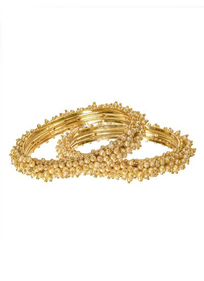 Pearl Covered Bangle Set