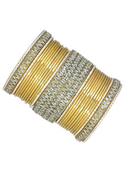 Metallic Glitter Bangle Set
