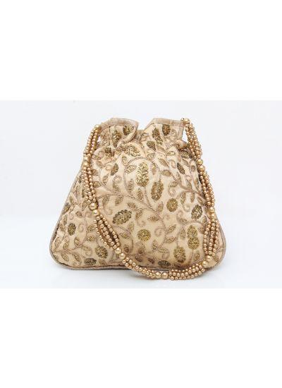 Antique Gold Potli Bag