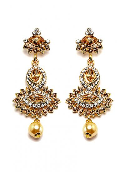 Pearl Four-Layered Ranihaar & Earrings Set
