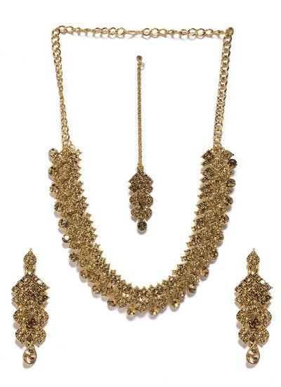 Intricate Topaz Stone Long Length Necklace