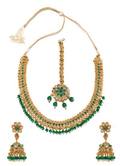 Emerald Kundan Rani Haar