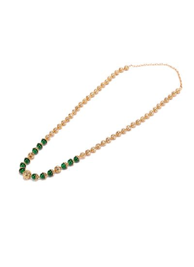 Emerald Beaded Chain Set