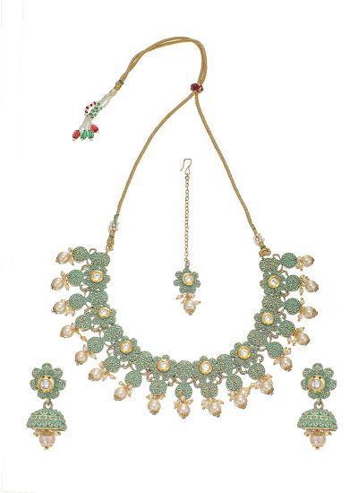 Green Minakari Necklace Set
