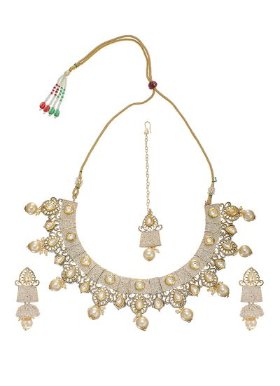 Ivory Minakari Pearl Necklace Set