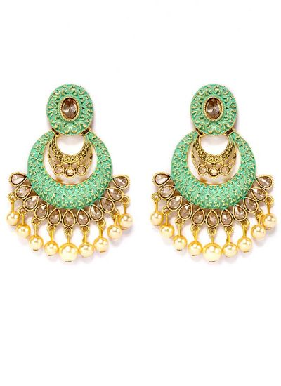 Mint MeenaKari Chandbalis