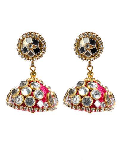 Pink Mirror Earrings