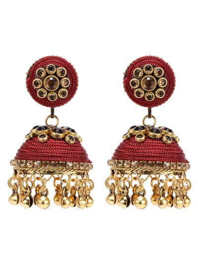 Maroon Topaz Earrings