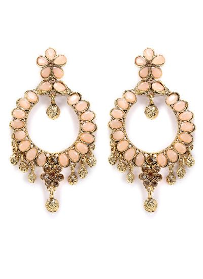 Contemporary Peach Earrings