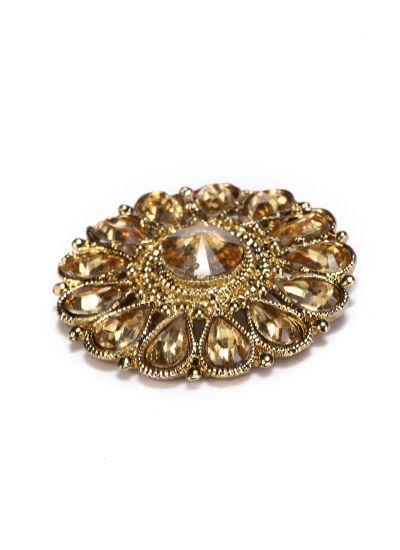 Topaz Round Floral Stud Earrings