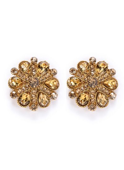 Topaz Floral Stud Earrings