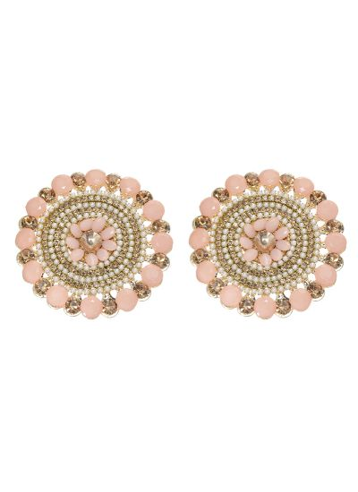 Peach Pearl  Highlighted Stud Earrings