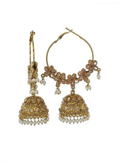 Traditional Gold Jhumkis
