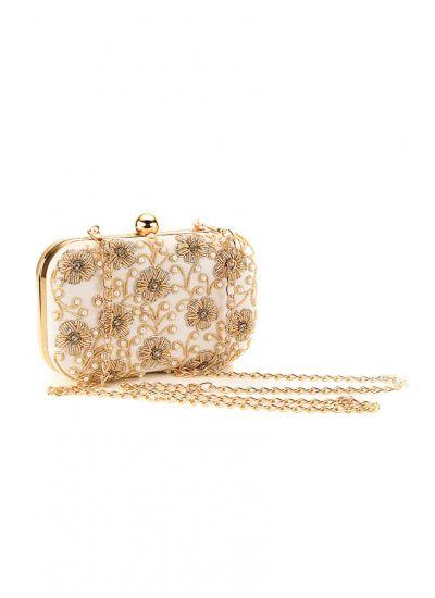 Intricate Pearl Embroidered Clutch