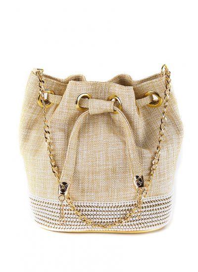Jute Pearl Potli Bag