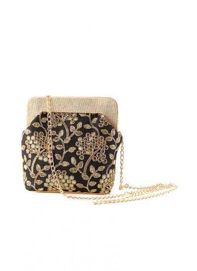 Silk Zari Sling Bag