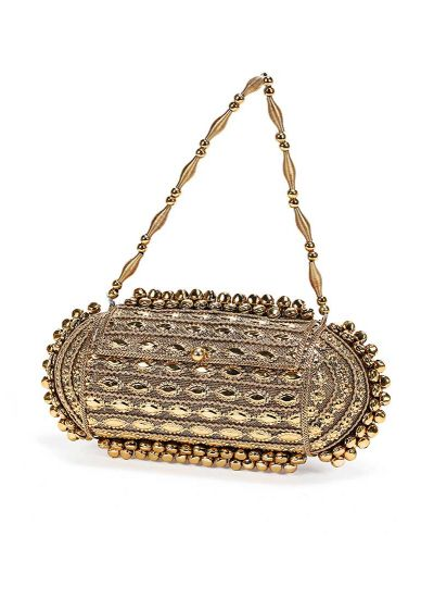 Antique Rectangular Hard Clutch