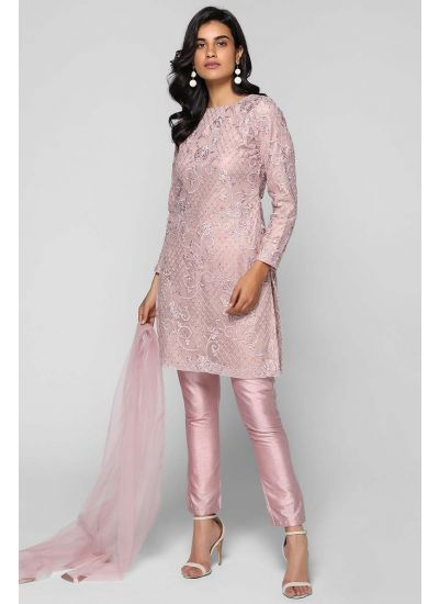 Intricate Net Embellished Suit