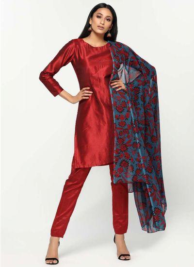 Peony Printed Silk Dress