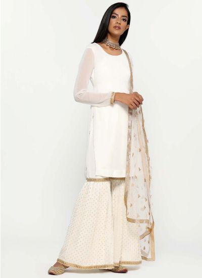 Jacquard  Gharara Dress