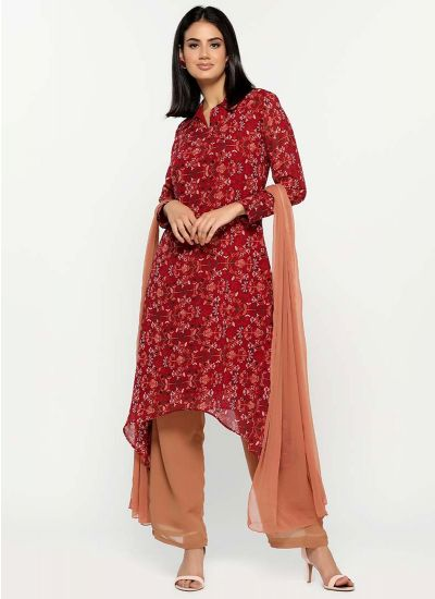 Damask Asymmetric Flow Suit