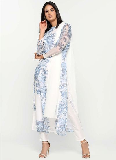 Indigo Chintz Print Dress