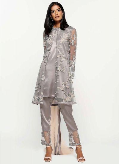 Ribbon Foiled Jacket Dress