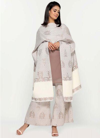 Mocha Woven Shawl Set
