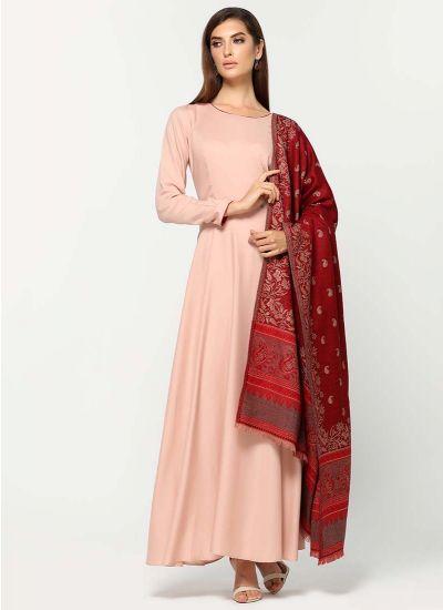 Foliage Woven Shawl Dress