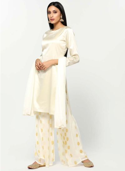 Sunflower Jacquard Gharara Suit